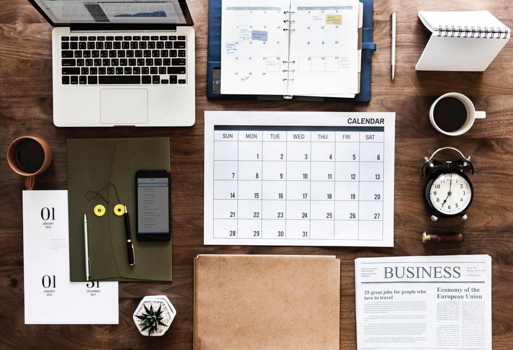 calendars-on-desk